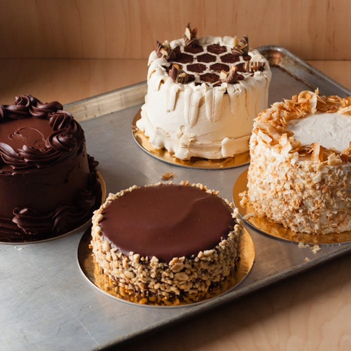 cakes and tarts at Community Food Co-Op chocolate coconut cream Devil cake