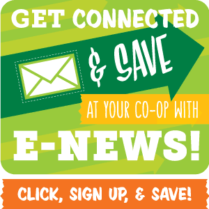 get connected and save - click here to sign up for our e-news