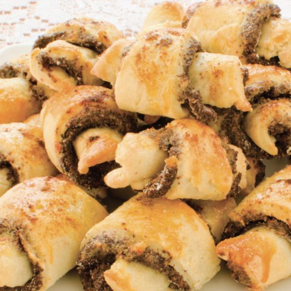 plate of rugelach