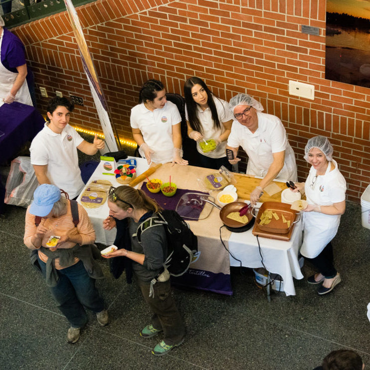 The Tortillas Con Made family hosted a popular sample table at the coop's annual meeting and party in March 2019