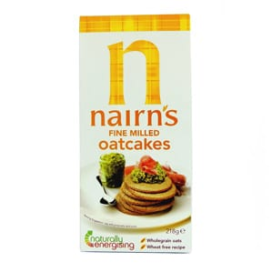 package of nairn's gluten-free oatcakes